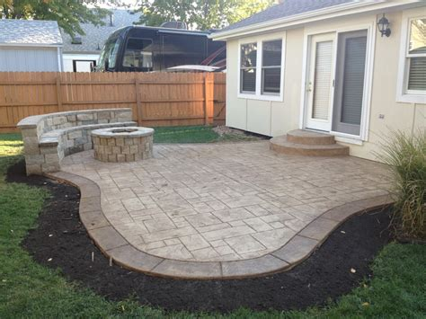 concrete for backyard beautiful sted concrete patio trend kansas city