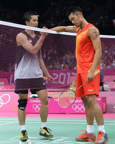 Raket Yonex Topik Hidayat foto taufik hidayat vs dan di laga badminton indonesia