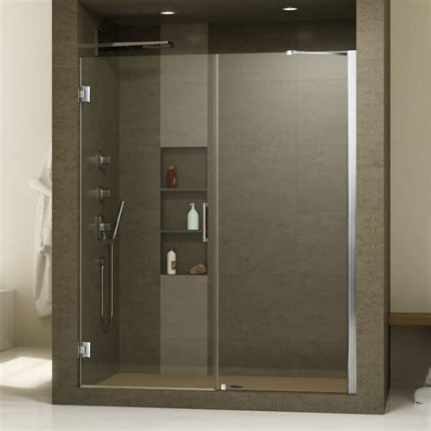 24 Glass Shower Door Coastal Shower Doors Legend Series 24 In X 64 In Framed Hinged Shower Door In Chrome With