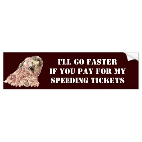 Will A Speeding Ticket Show Up On My Background Check You Pay My Speeding Tickets With Silly Bird Bumper Sticker Zazzle
