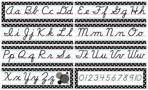 Printable Cursive Alphabet Banner | cursive mini bulletin board tcr4099 teacher created
