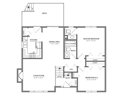 bi level home plans 990 sq ft bilevel house plan 22 canada