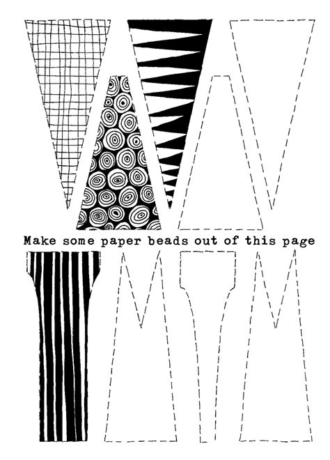Making Paper Beads Origami Paper Crafts Pinterest Paper Beads Template Paper Beads And Paper Bracelet Template