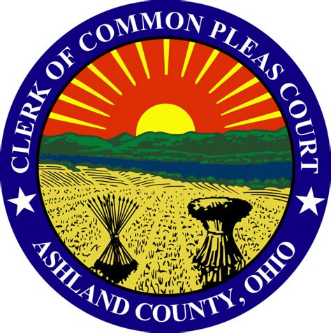 Cuyahoga County Court Of Common Pleas Search File Seal Of Ashland County Ohio Clerk Of Common Pleas
