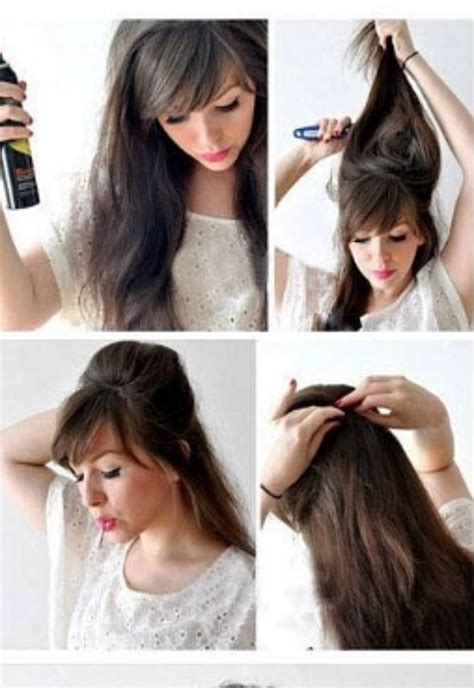 how to style the back of the comb ober back comb hairstyles for long hair hairstyles for long hair