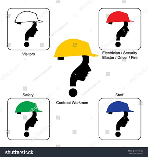 construction colors safety helmet colors construction site vector