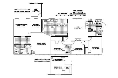 clayton homes floor plans manufactured home floor plan 2007 clayton lakeshore 37lak32764bh07