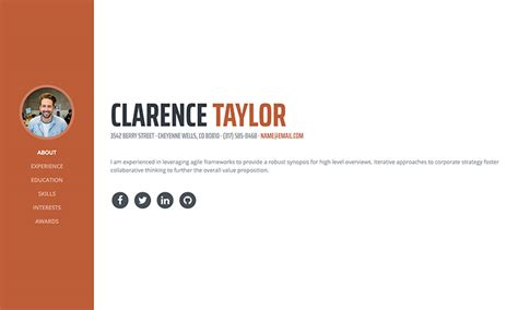 Bootstrap Resume by Bootstrap Resume Talktomartyb