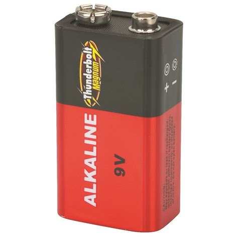 Alkaline Battery Shelf by 4 Pack 9 Volt Alkaline Batteries