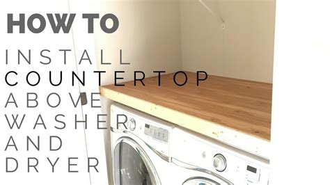 how to install a laundry how to install laundry closet countertop youtube