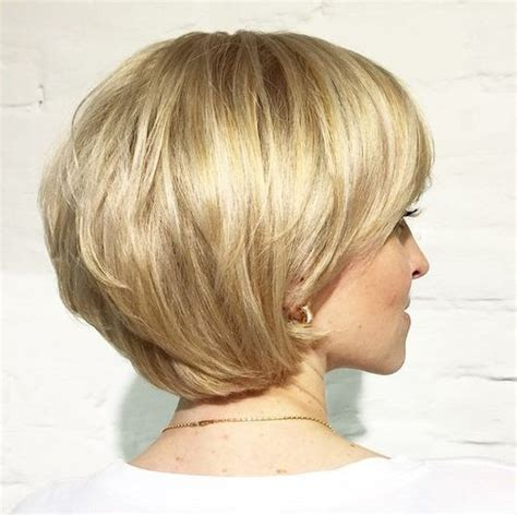 show the back of some modern womens medium length haircuts 50 cute and easy to style short layered hairstyles
