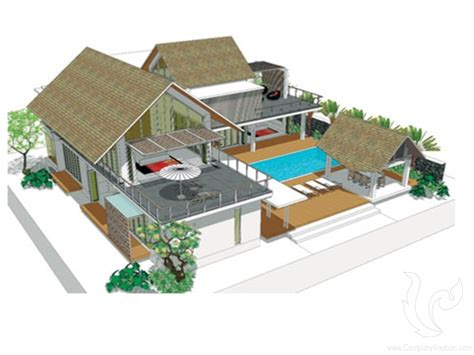 Two Bedroom Floor Plans House villa 5ch hua thanon samui