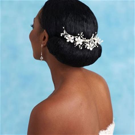 wedding hair buns for black women african american wedding hairstyles black wedding