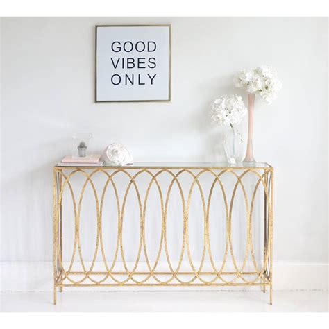 gold console table slim gold console table metal gold console table