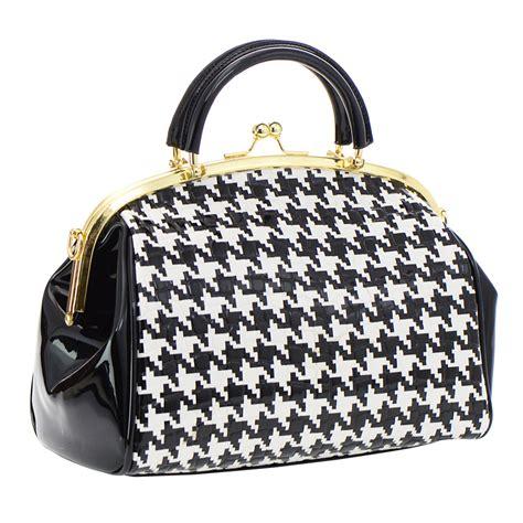 black and white pattern handbags black and white pattern print patent leather handbag 35335