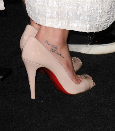 lea michele s tattoos glee s lea michele design
