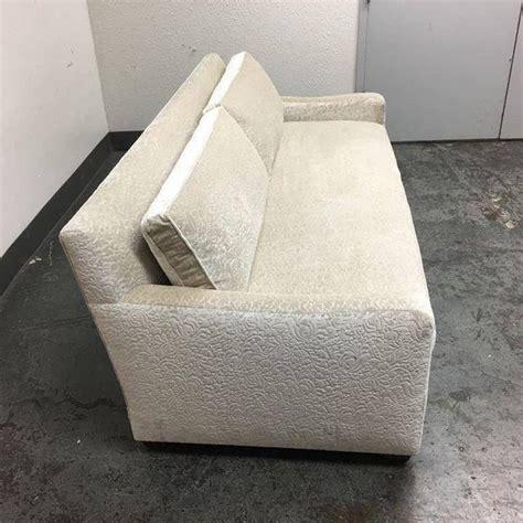 white velvet sofa fitzgerald of san francisco off white velvet sofa at 1stdibs