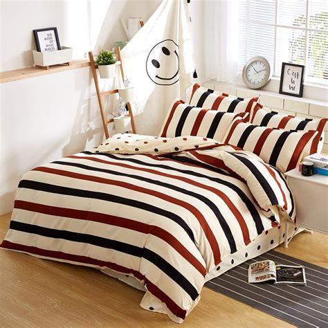 bedcover set king polkadot 180x200 modern stripe bedding set duvet cover set polka dot bed