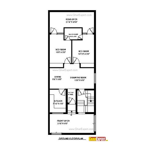 house design 15 feet by 60 feet house plan for 24 feet by 60 feet plot plot size160