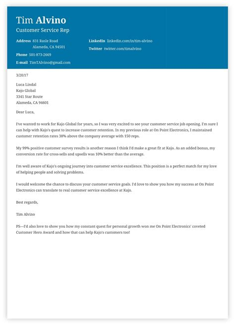 acceptance job cover letter customer service jobs