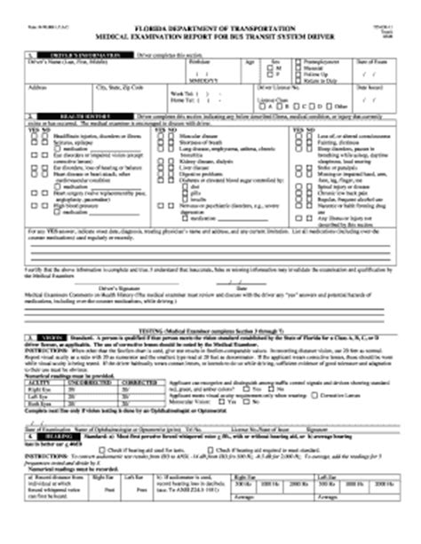 dot physical form dot physical form templates fillable printable sles