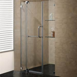 shower door 48 frameless glass vigo frameless shower door with 3 8