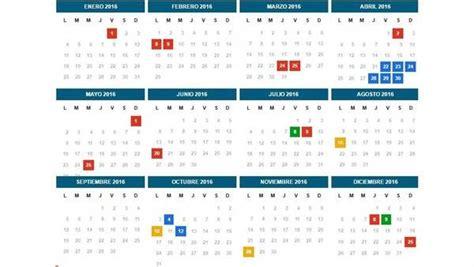 Calendario Con Los Feriados 2017 El Calendario De Feriados Nacionales Previstos Para Este
