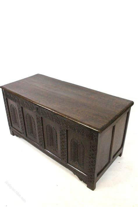 Chest Ottoman Oak Carved Coffer Blanket Box Ottoman Chest Antiques Atlas