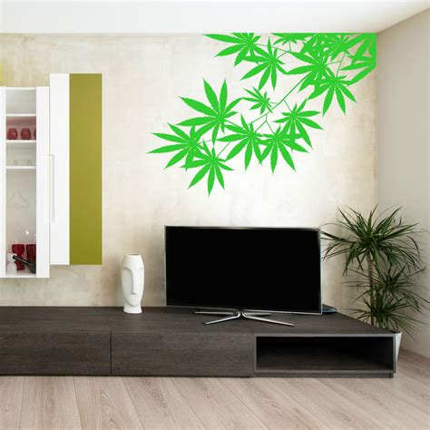 wall decals for rooms cannabis tree leaf plant skunk hash vinyl wall sticker room decal ebay