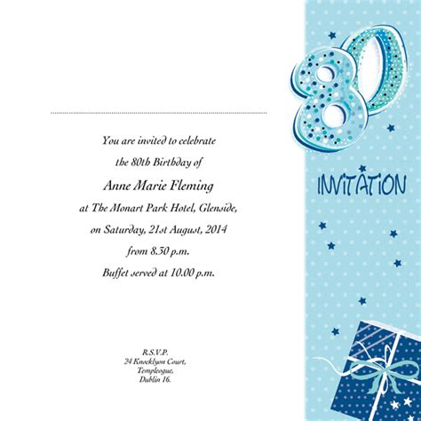 What To Write On 80th Birthday Card Wording For Funny 80th Birthday Invitation Collision