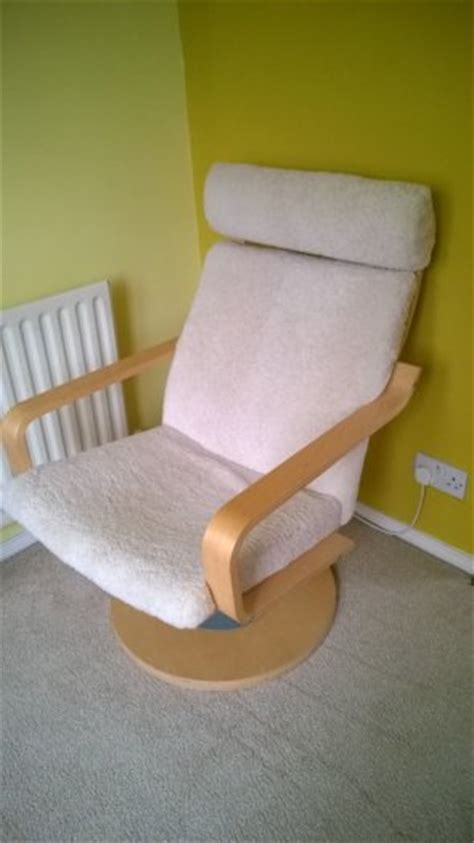 Ikea Poang Swivel Sheepskin Chair For Sale In Clonsilla Poang Swivel Chair