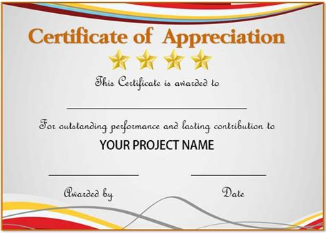 certificates for employees templates 20 free certificates of appreciation for employees