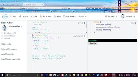 javascript tutorial jsfiddle jsfiddle framework and extenstions not showing resolved