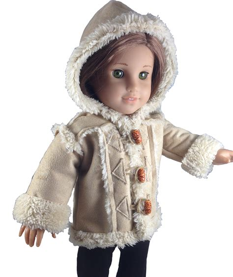 design doll review chilly day sherpa coat pdf pattern 18 dolls instant