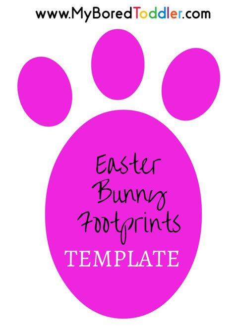 easter bunny footprint stencil my bored toddler