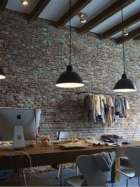exposed brick wall lighting exposed ceilings industrial and high ceilings on pinterest