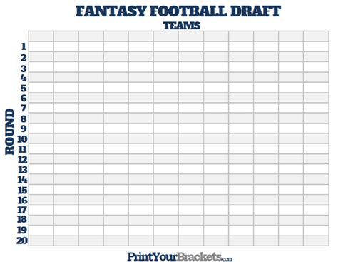 printable fantasy football draft board free