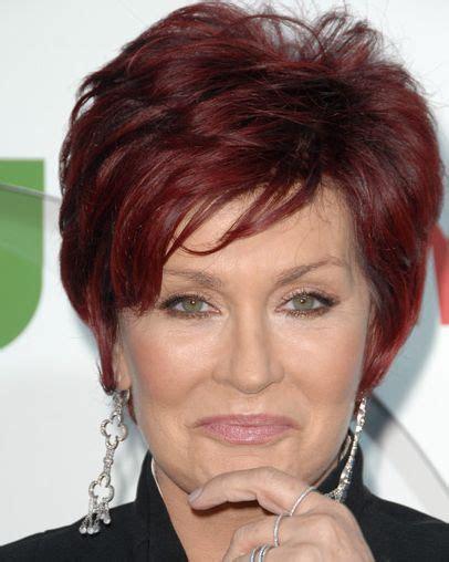 Sharon Osbourne Short Auburn Hairstyle   Everyday