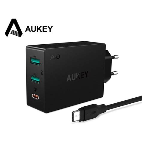 Charger Usb Aukey 2 Port 1 Port Type C 2 4a Qc3 0 Aipower Pa Y4 aukey charger usb 2 port 1 port type c 2 4a qc3 0 aipower pa y4 black jakartanotebook