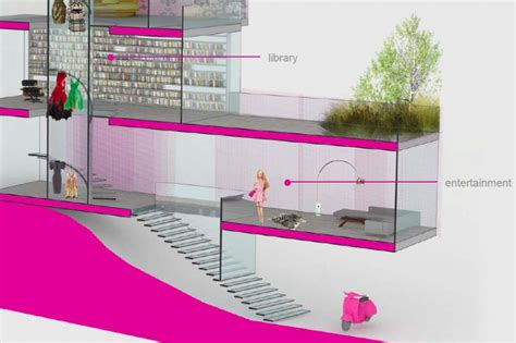 barbie house design architect barbie s winning dream house design unveiled and it has a green roof