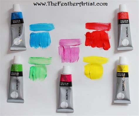 review daler rowney simply acrylic paint the feather artist