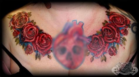 roses on chest by state of art tattoo on deviantart