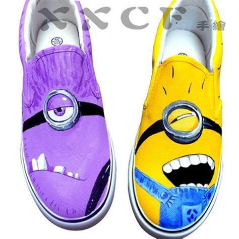 diy minion shoes despicable me minions custom painted shoes alldaychic