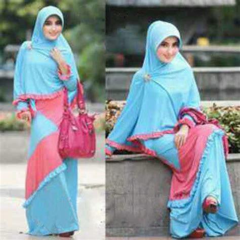 Gamis Kirana Pink baju gamis set bergo kirana jual busana muslim syarii