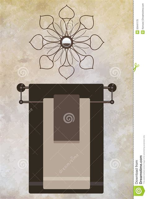 decorative bathroom towel racks towel rack stock vector image 50441175