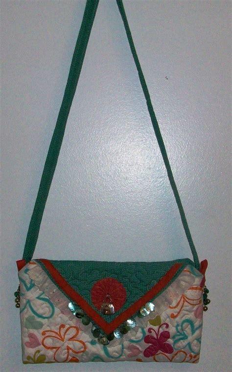 Handmade Quilted Handbags - handmade quilted beaded purse handbag original design by