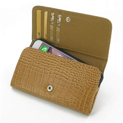 leather iphone wallet pattern iphone 6 6s leather wallet case brown croc pattern