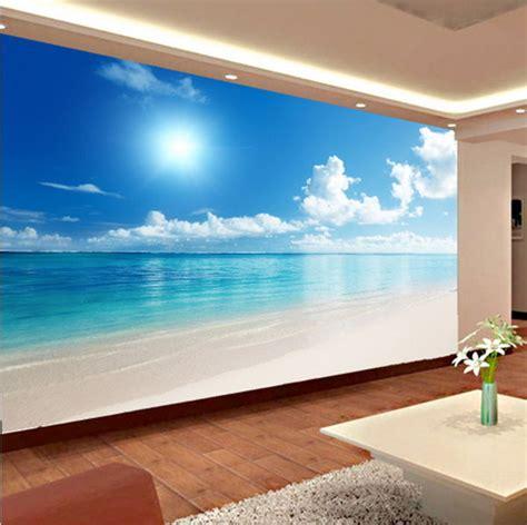 Relaxing Wallpaper For Walls Calm Ocean Beach Blue Sky Wallpaper | relaxing 3d calm ocean beach blue sky wallpaper mural wall