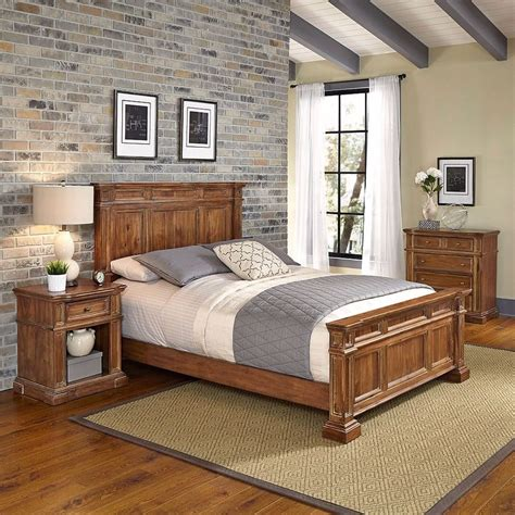 rustic queen bedroom furniture set vintage 4 drawer