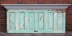 headboard made from antique 6 panel door by